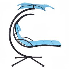 Hanging Lounge Chair Canada Outdoor Cushions At Target Giantex Helicopter Hammock Blue