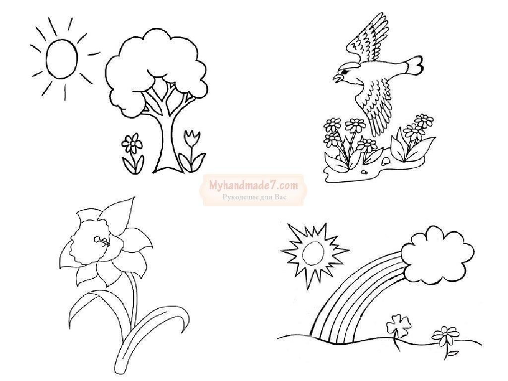 весенние раскраски для детей тематические картинки на тему