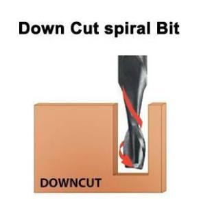 Down spiral router bit