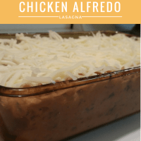 Chicken Alfredo Lasagna For Two