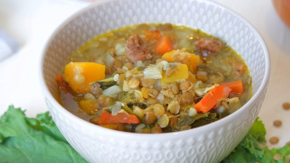Lentil Soup Bowl Kale
