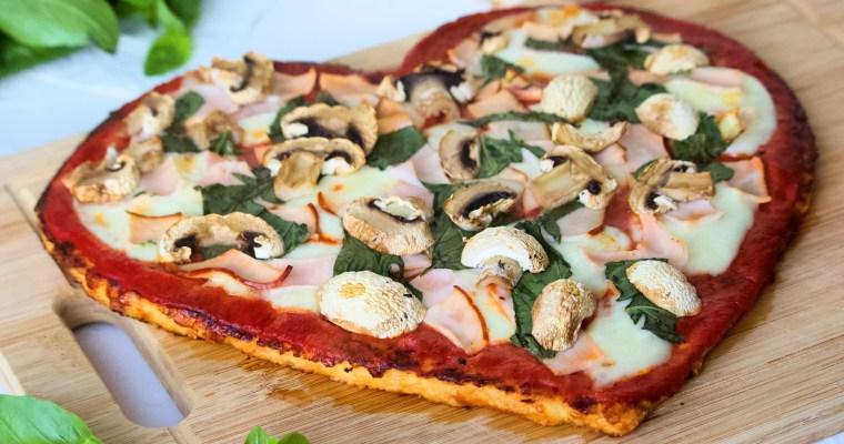 Cauliflower Pizza Heart