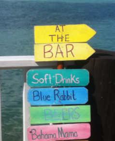 Bar sign Harbour Island
