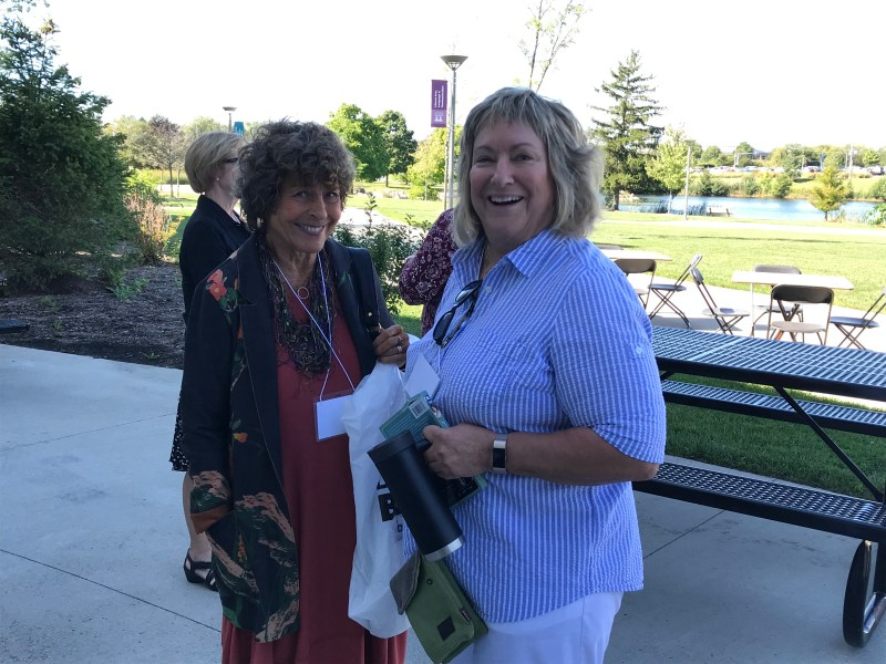 9/26/19 Bonnie Henry with Jeanne Leininger at the Paver Dessert Party.
