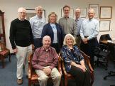 Trygve Thoreson interviewed some early Harper employees, Oct'15 - Bob B, Dave McC, Jeanne P, Tom J, Tryg T, Steve C. Seated- Tom McC, Barb R.