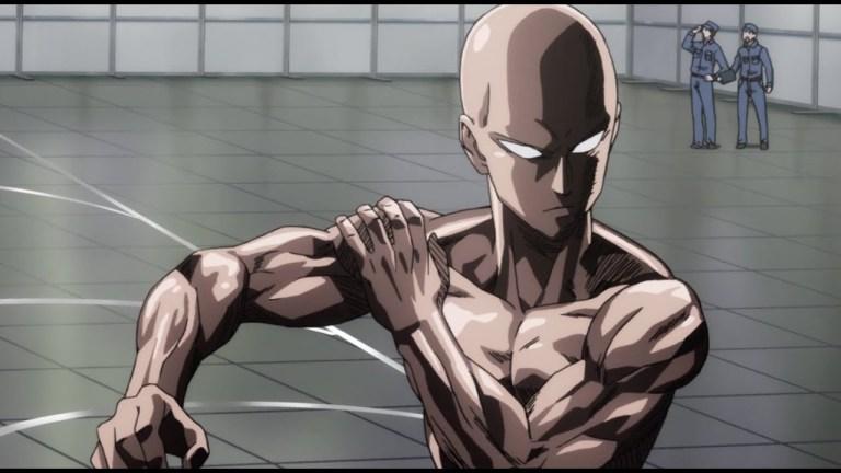 One punch man saitama ripped body in anime