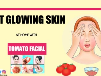Glowing skin at home with tomato facial