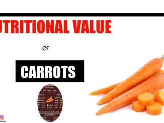 Nutritional value of Carrot