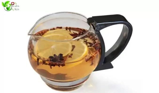 Clove water in glass jug
