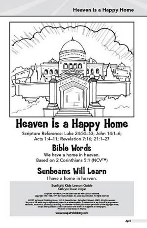 Sunlight Kids Lesson Book: Heaven Is a Happy Home (April