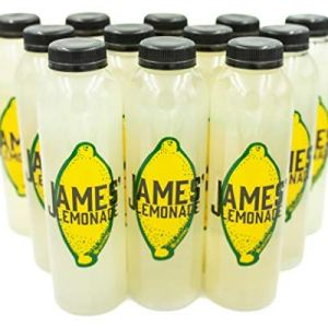 James' Lemonade – Original Lemon Juice Recipe w/ Fresh Mint– (12 Pack) 16 Fl. Oz. Plastic Juice Bottles, 100% Natural Lemonade Flavor