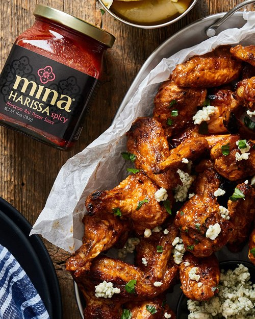 Mina Harissa Hot Sauce, Excite Your Senses with Gourmet Moroccan Heat, Spicy Red Chili Sauce with a Tangy Twist (10 Ounces)
