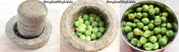 How to make Sundakkai puli kuzhambu Step 2