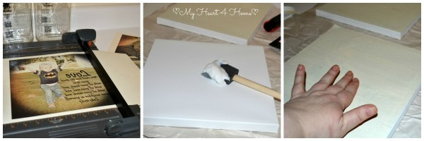 Applying photos to canvas