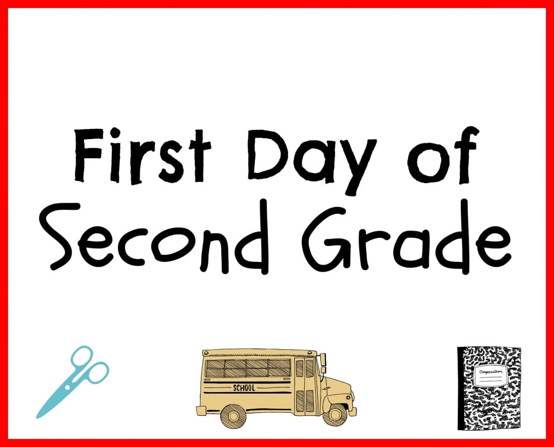 hight resolution of First Day Back to School Printables - My Heavenly Recipes