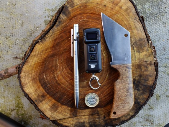 The Nitecore TUP with other EDC items