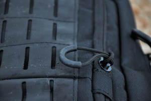 A close-up of the Hypalon synthetic rubber MOLLE platform