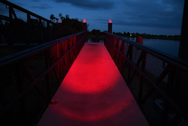 The Red Auxiliary LED