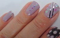 Sequins and Feather Nail Art with My Nail Art Society ...