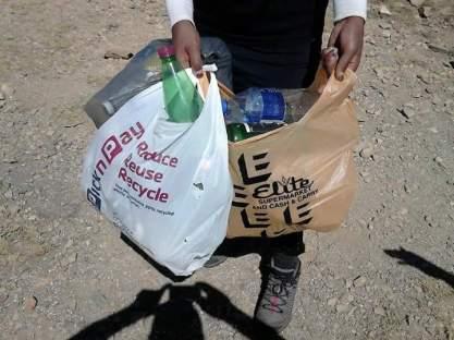 3 bags of litter!