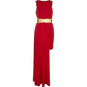 http://eu.riverisland.com/women/dresses/maxi-dresses/red-belted-high-low-hem-dress-676109