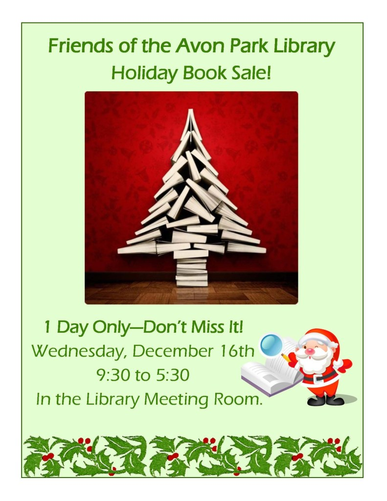 friends book sale december15