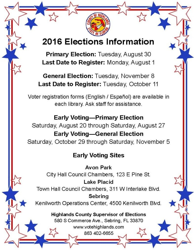 2016 elections information