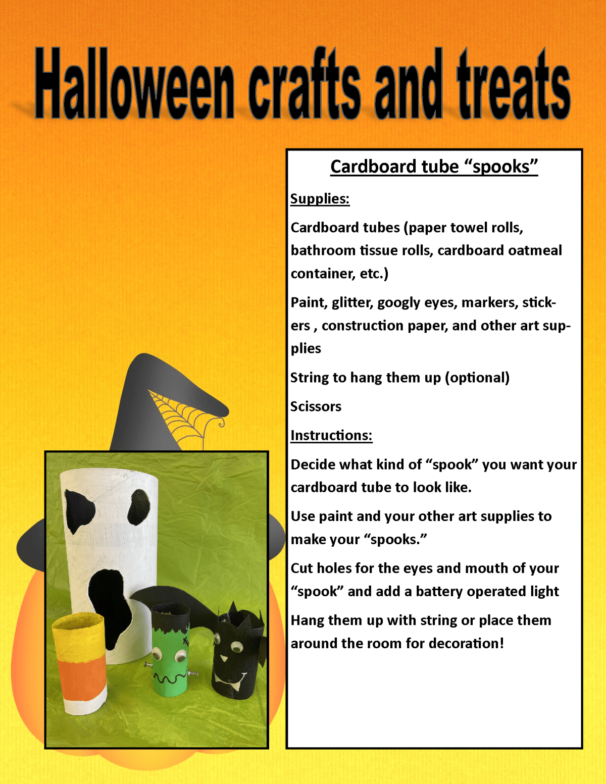 Image of PDF Halloween treat and craft posting (PDF Available for download/printing) Page 4