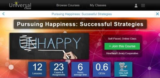 Universal Class Happiness