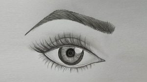 draw step eye eyebrow eyes easy drawing very eyebrows drawings myhobbyclass perfect makeup drawingwow