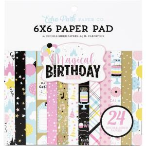 echo park - magic birthday girl - 6x6-- my hobby my art - stickers cardstock 2