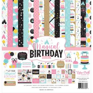 echo park - magic birthday girl - kit -- my hobby my art - stickers cardstock 2