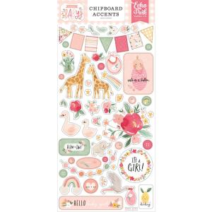 echo park - welcome baby - chipboard -- my hobby my art - stickers cardstock 2
