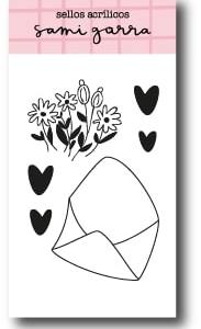 my hobby my art - sami-garra-jane- sellos - clear stamp -sobre con flores - envelope with flowers