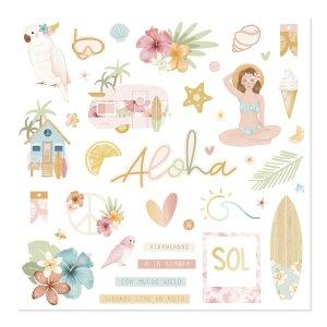 Aloha - Mintopia Studio - Basic Crea - My Hobby My Art - coleccion Aloha - chipboard - die cuts