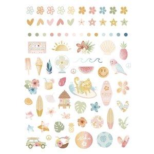 Aloha - Mintopia Studio - Basic Crea - My Hobby My Art - coleccion Aloha - puffy stickers