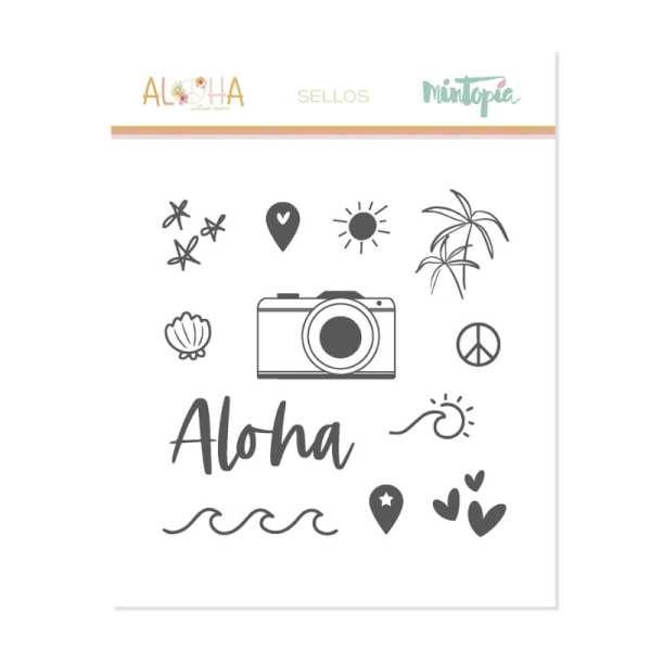 Aloha - Mintopia Studio - Basic Crea - My Hobby My Art - coleccion Aloha - sello verano