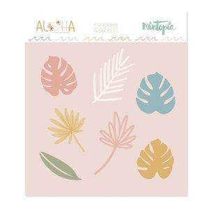 Aloha - Mintopia Studio - Basic Crea - My Hobby My Art - coleccion Aloha - troquel hojas tropicales
