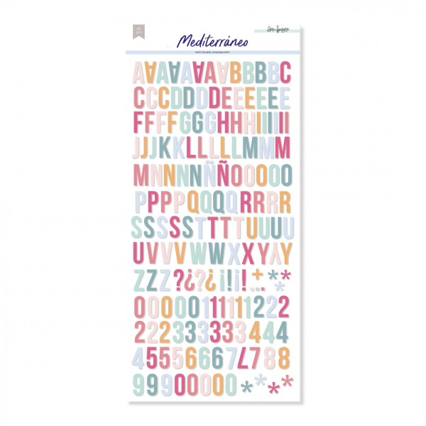 lora bailora - my hobby my art - mediterrano - alfabeto stickers