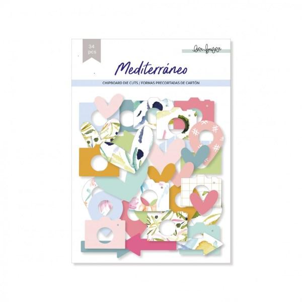 lora bailora - my hobby my art - mediterrano - die cuts - formas precortadas - chipboard