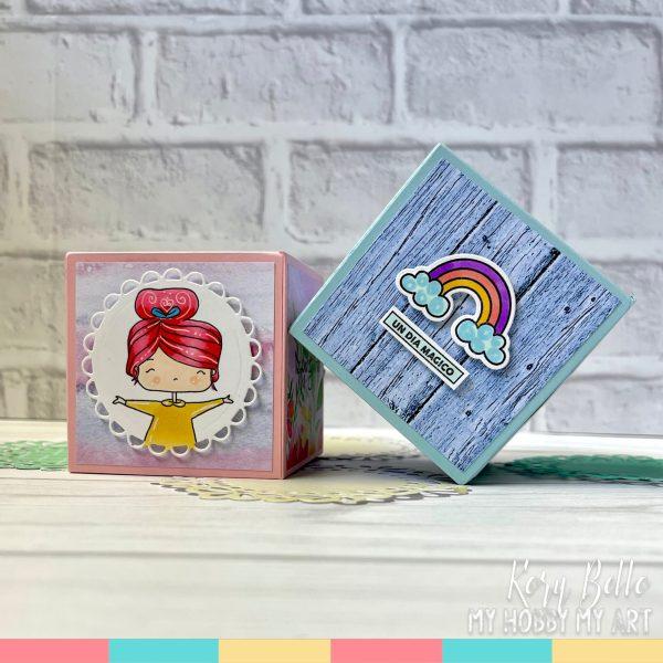 tarjeta cubo pop up - archivo - template- studio - silhouette - my hobby my art