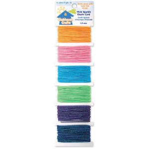 Clubhouse Crafts Elastic Cord - sparkle - my hobby my art