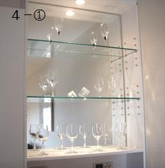 ガラスのグラス棚4-①