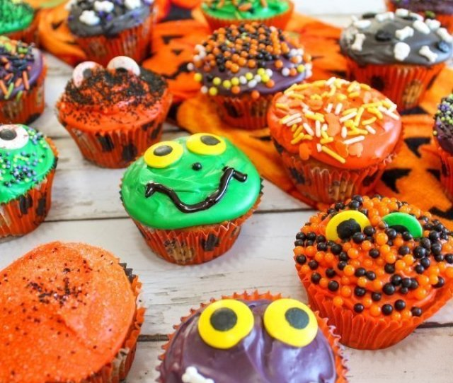Kick Your Halloween Recipes Into Cute Gear With These Halloween Cupcakes For Kids Not Spooky