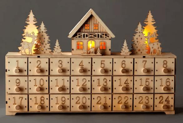 calendrier de l'avant en bois zéero déchet