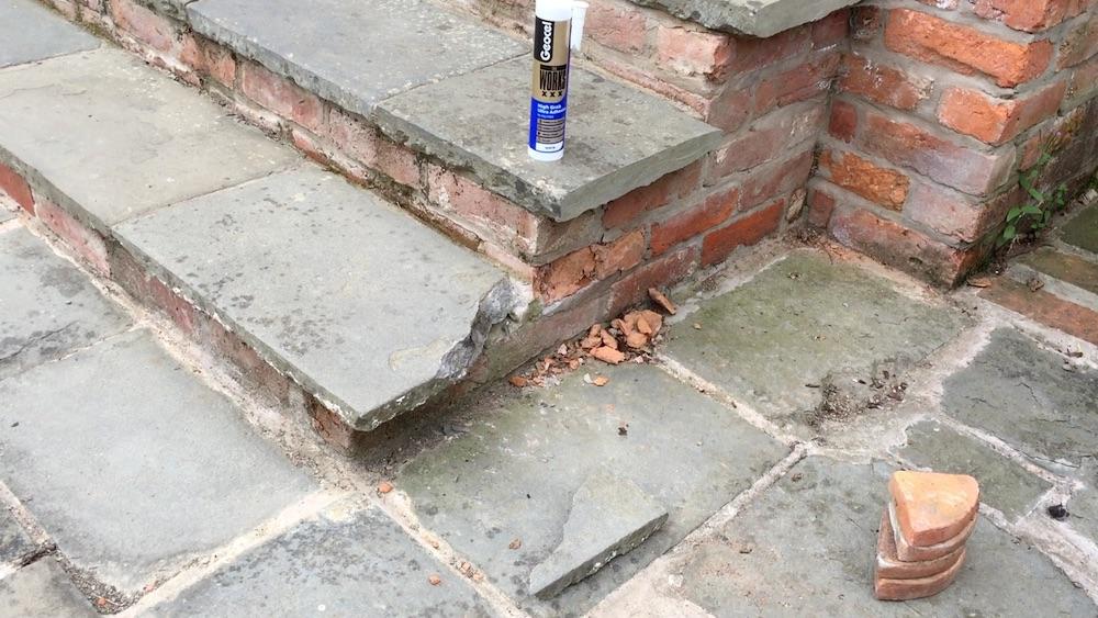 broken slate step