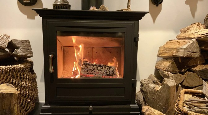 Effective, environmentally-friendly method to clean wood burning stove glass in less than 5 minutes