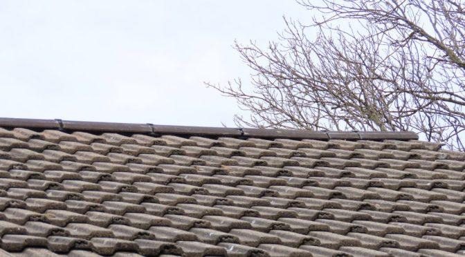 Roof ridge tiles replaced using dry ridge system