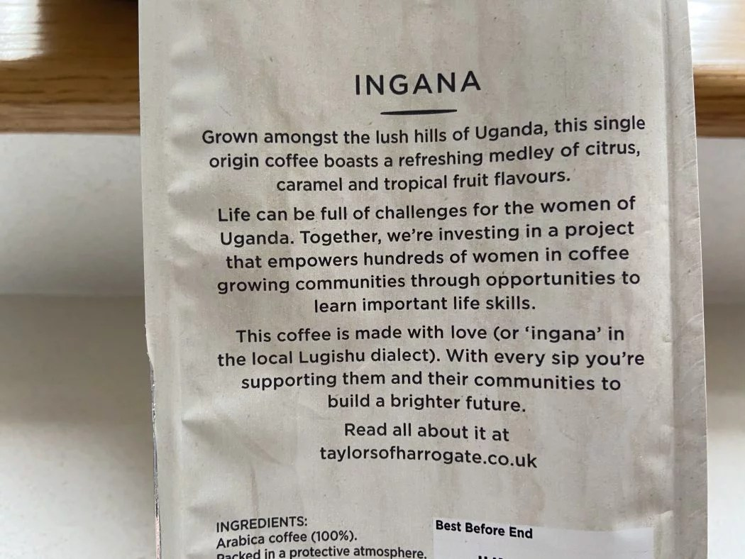 Limited edition Ingana coffee