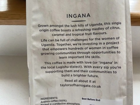 Limited edition Ingana coffee